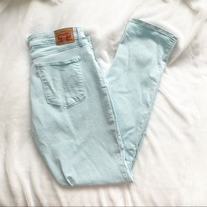 Levi's Classic Mid Rise Skinny Baby Blue Size 32